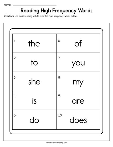 dolch words worksheets have fun teaching