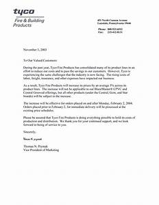 price increase letter jvwithmenowcom With price increase letter template