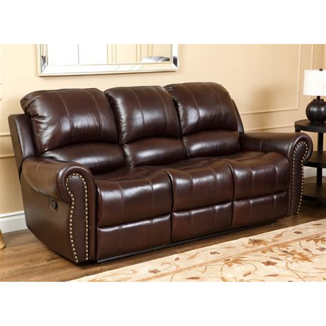 Reclining Leather And Loveseat by Abbyson Burgundy Italian Leather Reclining