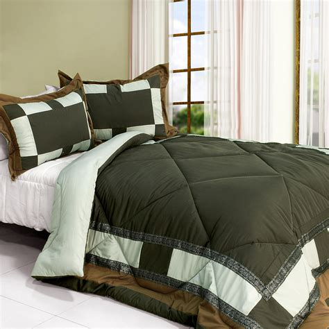 twin size comforter set nature story quilted patchwork alternative comforter set size comforters sets