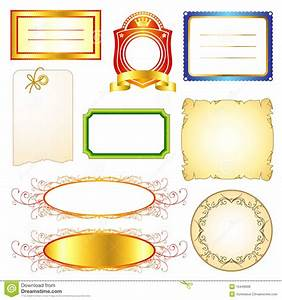 label templates set 2 stock vector image of fashioned With z label templates
