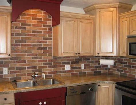 faux brick backsplash in kitchen kitchen brick backsplash tile ideas and installation 8919