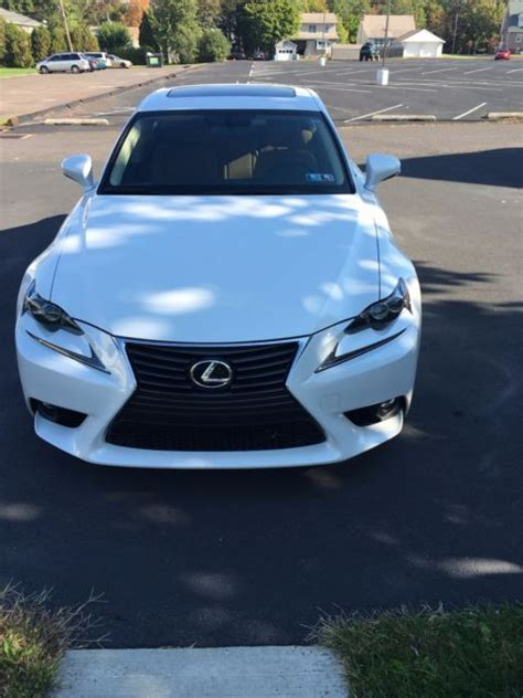2015 Pearl White Lexus Is 250 Awd Loaded Premium Package