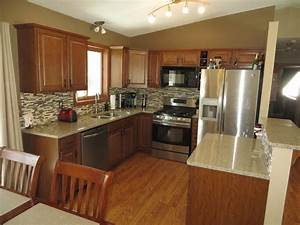 gorgeous kitchen in split entry home for sale in ramsey With split level kitchen design ideas