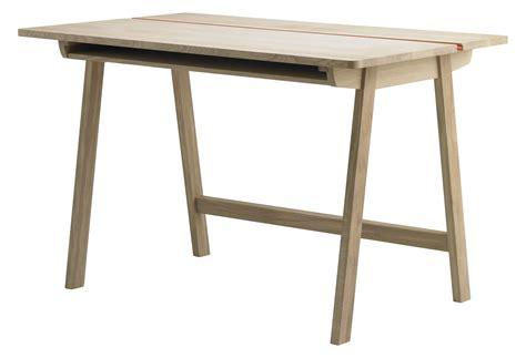 rangement bureau bois landa desk l 120 cm 120 x 70 5 cm oak by alki