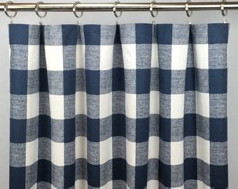 navy blue curtains etsy