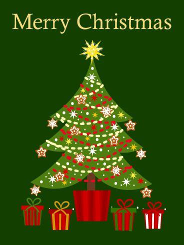 cute christmas tree card birthday greeting cards  davia