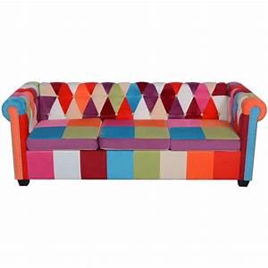 Chesterfield Sofa Stoff : vidaxl chesterfield sofa 3 sitzer stoff g nstig kaufen ~ Whattoseeinmadrid.com Haus und Dekorationen