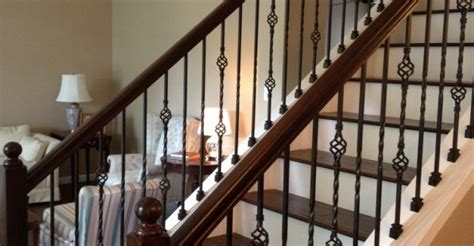 Replacing Banister Spindles by Replacing Stair Banisters And Railings Studio Design