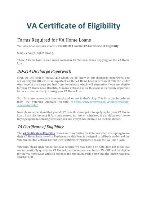 va home loan eligibility letter home review