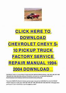 1998 S10 Owners Manual
