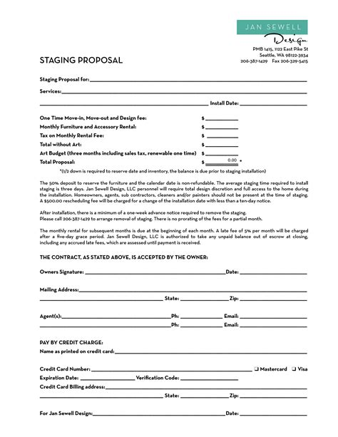 Staging Contract Template Free Independent Home Staging Contract Template Images Docu Contract