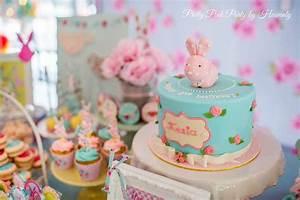 Cath Kidston Inspired Bunny Theme Birthday Party Ideas