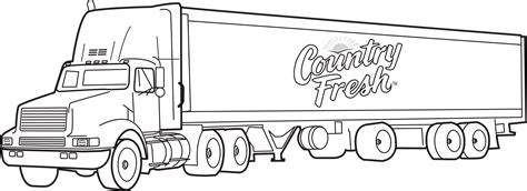 Country Fresh Transport Truck Coloring Pages
