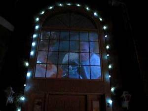 Christmas decorations with rear projection window screen