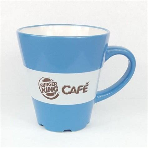High quality burger king inspired mugs by independent artists and designers from around the world. Burger King Cafe Mug Blue I Love Coffee Collectible Coffee Cup 2012 | Mugs, I love coffee ...
