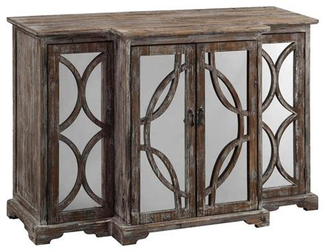 salvage kitchen cabinets galloway 4 door rustic wood and mirror sideboard 2094