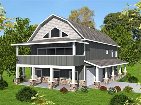 garage apartment plan  shop  gambrel roof carriage house plans garage house