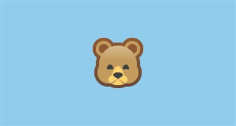 Bear Face Emoji On Facebook 1.0