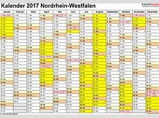 Kalender 2017 NRW Ferien, Feiertage, PDFVorlagen