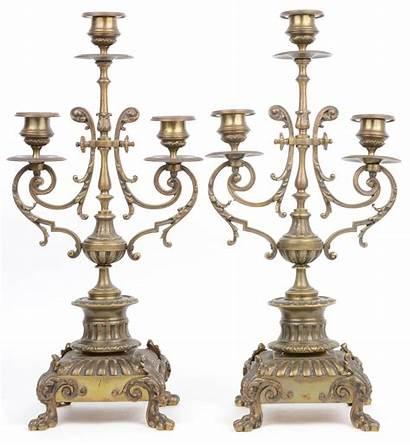 Bronzes Eclectische Stijl Brons Cie Driedelig Gemerkt