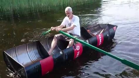 Diy Boat by Diy Boat Made Of Four Barrels