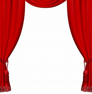 Transparent red curtains with tassels png clipart for Blue theatre curtains png