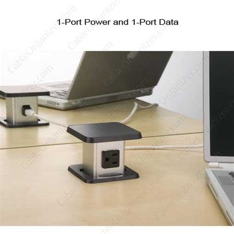 desk outlets power and data 1 port power and 1 port data outlet application icon