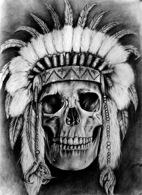 Skull by niecalkiem   Skull Art   Skull art, Indian skull tattoos, Tattoo design drawings