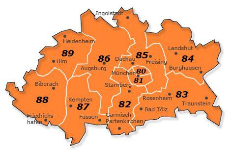 Plzgebiet 8 Deutschland  Karte Und Liste Aller Orte