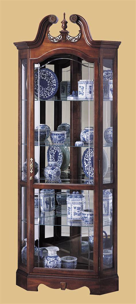 Howard Miller Berkshire Cherry Wood Corner Curio Cabinet