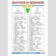 Grammar For Beginners A Or An Worksheet  Free Esl Printable Worksheets Made By Teachers
