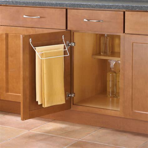kitchen towel racks for cabinets knape vogt door mount towel rack for kitchen or bathroom 8672