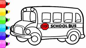 SCHOOL BUS Coloring Pages | How to Draw and Color School ...