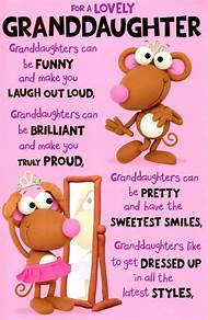 Granddaughter Birthday Wishes Cards