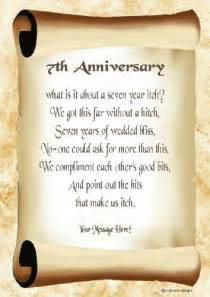 7th Wedding Anniversary Poems