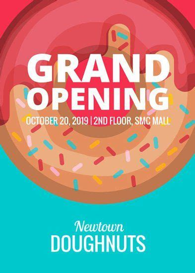 doughnut shop grand opening flyer grand opening