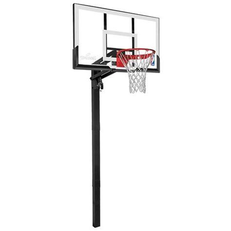 spalding  acrylic inground basketball system academy
