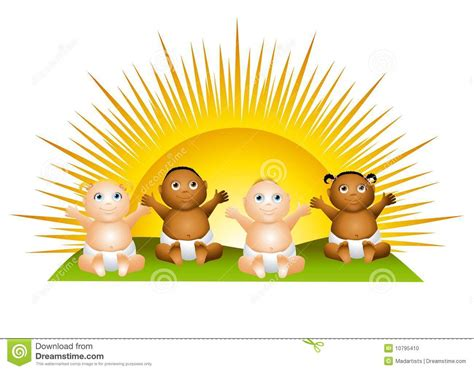 clipart photo sun babies clip stock photo image 10795410