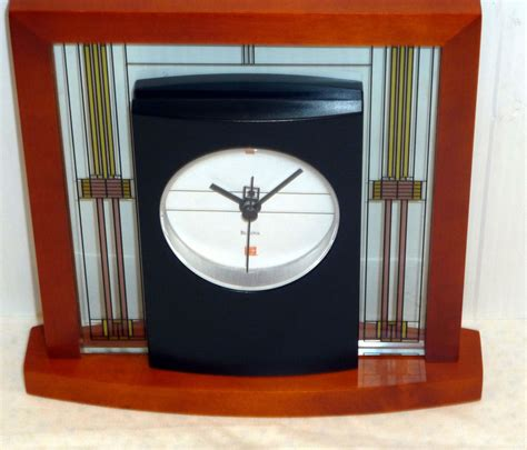 bulova frank lloyd wright clock bulova mantel table clock frank lloyd wright quot the willits 7994