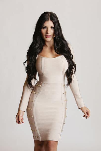Dress Nude Dress Bodycon Bodycon Dress Bandage Dress