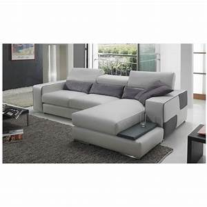 canape d39angle en cuir udine achat vente canape sofa With cdiscount canapé en cuir