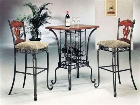 3 bar table set with wine rack base bar table and