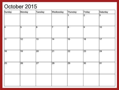 blank html october 2015 calendar printable free 2017 printable calendar