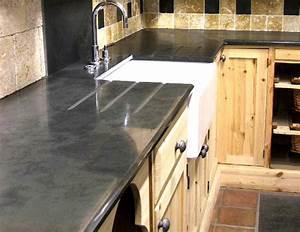 ardoise pour plan de travail de cuisine et salle de bain With materiaux plan de travail cuisine