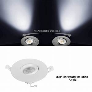 Nickled Dimmable 3 Inches Gimbal Led Recessed Downlight