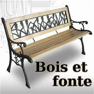 Banc De Jardin En Fonte : banc de jardin en bois massif et fonte 3 versions ~ Farleysfitness.com Idées de Décoration