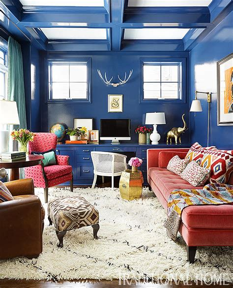 15 Rooms Big Bold Color 15 rooms with big bold color traditional home