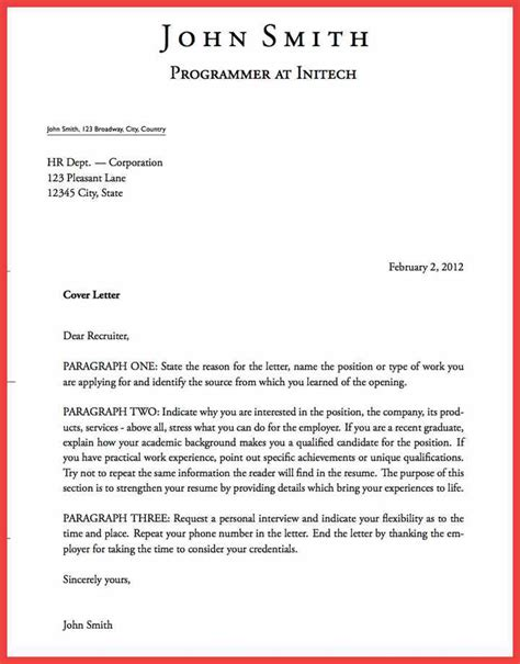 cover letter structure best of cover letter structure cover letter exles 29523