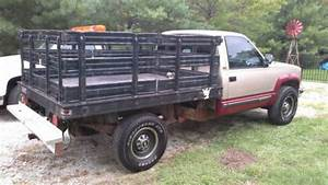 Buy Used 1992 Chevy K2500 Flatbed With Metal Stake Sides
